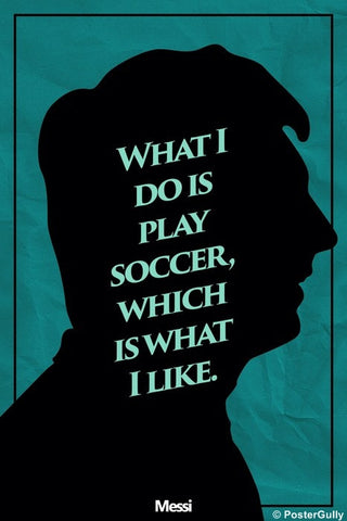 Wall Art, Messi Soccer Quote #footballfan, - PosterGully