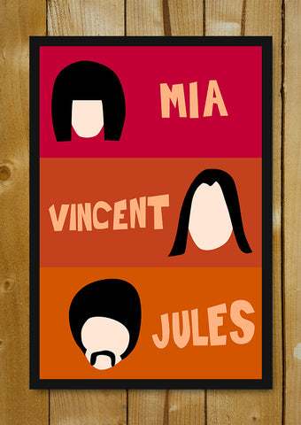 Glass Framed Posters, Mia, Vincent And Jules Pulp Fiction Glass Framed Poster, - PosterGully - 1