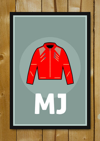 Glass Framed Posters, Michael Jackson Jacket Glass Framed Poster, - PosterGully - 1