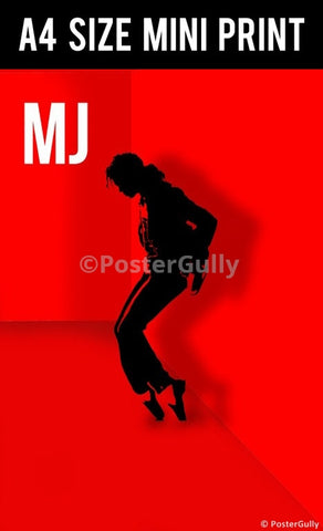 Mini Prints, Michael Jackson Red Artwork | Mini Print, - PosterGully