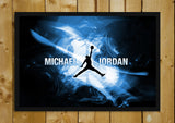 Glass Framed Posters, Michael Jordan NBA Glass Framed Poster, - PosterGully - 1