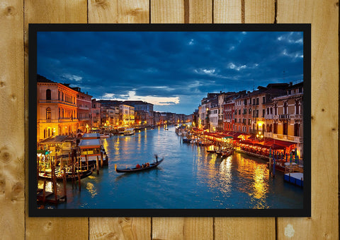 Glass Framed Posters, Midnight in Venice Glass Framed Poster, - PosterGully - 1