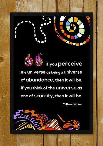 Glass Framed Posters, Milton Glaser Quote Glass Framed Poster, - PosterGully - 1
