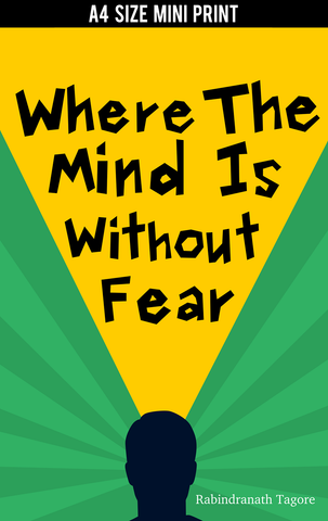 Mini Prints, Mind Without Fear Tagore | Mini Print, - PosterGully