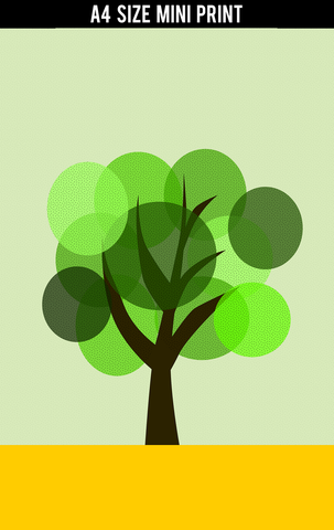 Mini Prints, Minimal Tree | Mini Print, - PosterGully