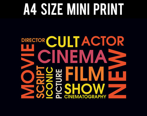 Mini Prints, Movie Word Cloud | Mini Print, - PosterGully