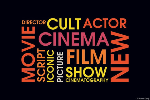 Wall Art, Movie Word Cloud, - PosterGully