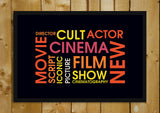 Glass Framed Posters, Movie Word Cloud Glass Framed Poster, - PosterGully - 1