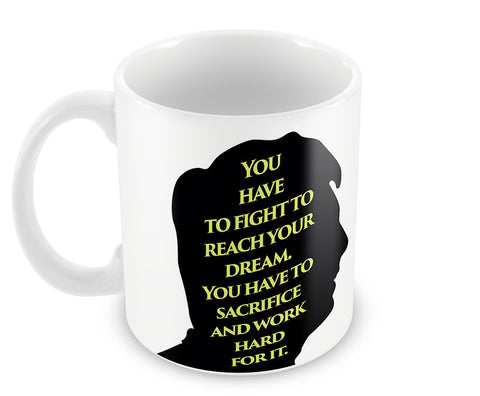 Mugs, Messi Dream Quote #footballfan Mug, - PosterGully - 1