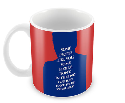 Mugs, Iniesta Yourself Quote #footballfan Mug, - PosterGully - 1