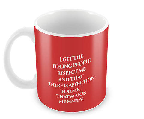 Mugs, Iniesta Respect Quote #footballfan Mug, - PosterGully - 1