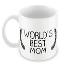 Mugs, World's Best Mom #LOVEMYMOM Mug, - PosterGully - 2