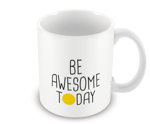 Mugs, Be Awesome Today Yellow Mug, - PosterGully - 1
