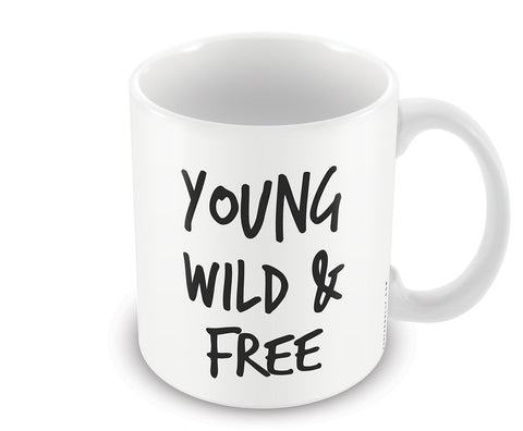 Mugs, Young Wild Free Mug, - PosterGully - 1