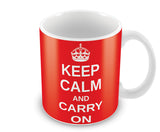 Mugs, Keep Calm And Carry On Mug, - PosterGully - 1