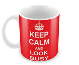 Mugs, Keep Calm And Look Busy Mug, - PosterGully - 2