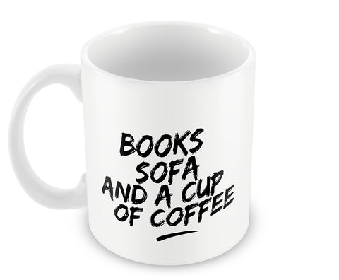 Mugs, Books Sofa And Coffee #bewhoyouare Mug, - PosterGully - 1