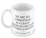 Mugs, Craft Quote - Ernest Hemingway #writers Mug, - PosterGully - 1