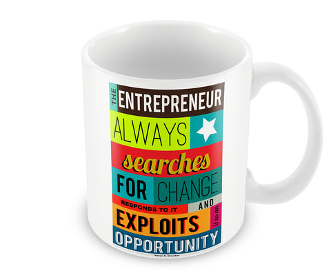 Mugs, Opportunity - Peter Drucker #business Mug, - PosterGully - 1