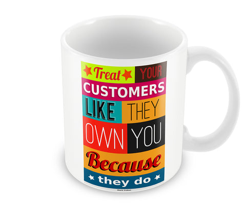 Mugs, Customers - Mark Cuban #business Mug, - PosterGully - 1