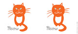 Mugs, Meow - Orange Cat Mug, - PosterGully - 3