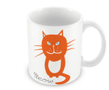 Mugs, Meow - Orange Cat Mug, - PosterGully - 1