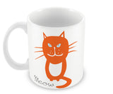 Mugs, Meow - Orange Cat Mug, - PosterGully - 2