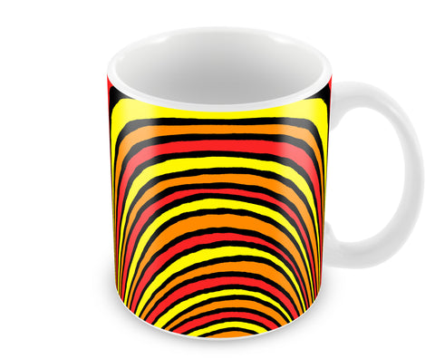 Mugs, Waves Gone Hot Abstract Mug, - PosterGully - 1