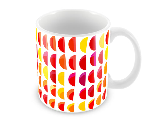 Mugs, Semi Circle Pattern Abstract Mug, - PosterGully - 1