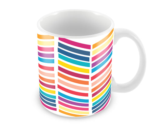 Mugs, Lines Abstract Mug, - PosterGully - 1