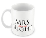 Mugs, Mrs ALways Right Mug, - PosterGully - 2