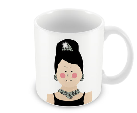 Mugs, Audrey Hepburn Breakfast At Tiffany #minimalicons Mug, - PosterGully - 1