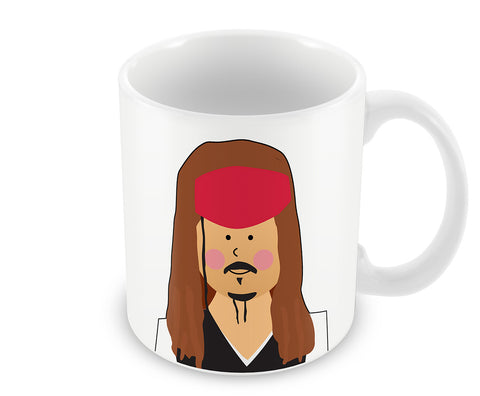 Mugs, Jack Sparrow Pirates Of The Carribean #minimalicons Mug, - PosterGully - 1