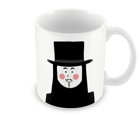 Mugs, V For Vendetta #minimalicons Mug, - PosterGully - 1