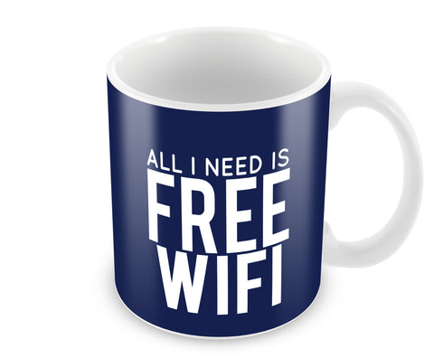 Mugs, Free Wifi Mug, - PosterGully - 1