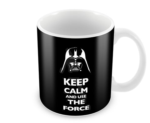 Mugs, Keep Calm And Use The Force Mug, - PosterGully - 1