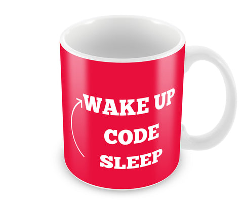Mugs, Wake Up Code Sleep Mug, - PosterGully - 1