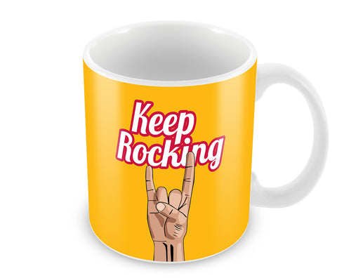 Mugs, Keep Rocking Mug, - PosterGully - 1