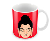 Mugs, Buddha Red Mug, - PosterGully - 1