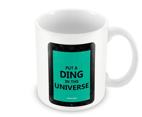 Mugs, Ding In The Universe Steve Jobs Mug, - PosterGully - 1