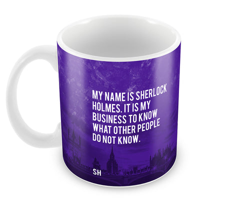 Mugs, Sherlock Holmes Business Quote Mug, - PosterGully - 1