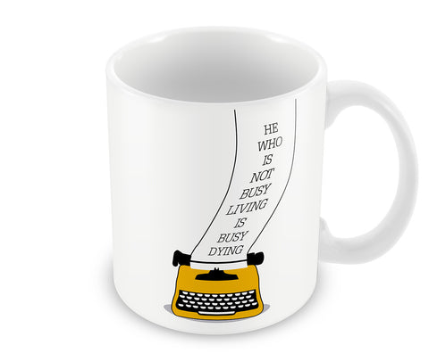 Mugs, Busy Born Bob Dylan Quote Mug, - PosterGully - 1