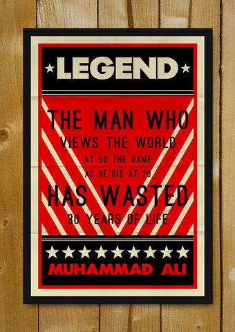 Glass Framed Posters, Muhammad Ali 30 Years Of Life Retro Glass Framed Poster, - PosterGully - 1