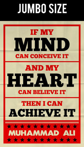 Jumbo Poster, Muhammad Ali | Mind And Heart Retro | Jumbo Poster, - PosterGully