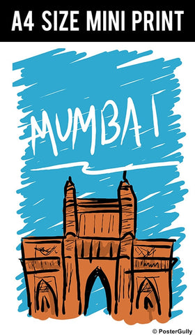 Mini Prints, Mumbai | Sketch | Mini Print, - PosterGully