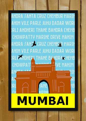 Glass Framed Posters, Mumbai Pop Art Glass Framed Poster, - PosterGully - 1