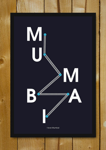 Glass Framed Posters, Mumbai Rails Glass Framed Poster, - PosterGully - 1