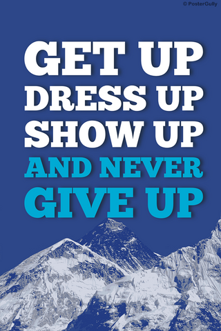 Wall Art, Never Give Up Motivational, - PosterGully