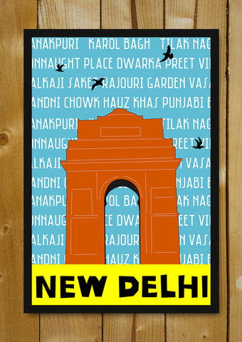 Glass Framed Posters, New Delhi Pop Art Glass Framed Poster, - PosterGully - 1