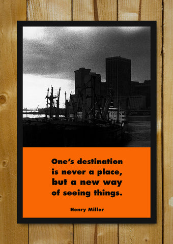 Glass Framed Posters, New Way Henry Miller Quote Glass Framed Poster, - PosterGully - 1